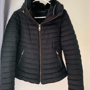 Navy Zara Puff Jacket